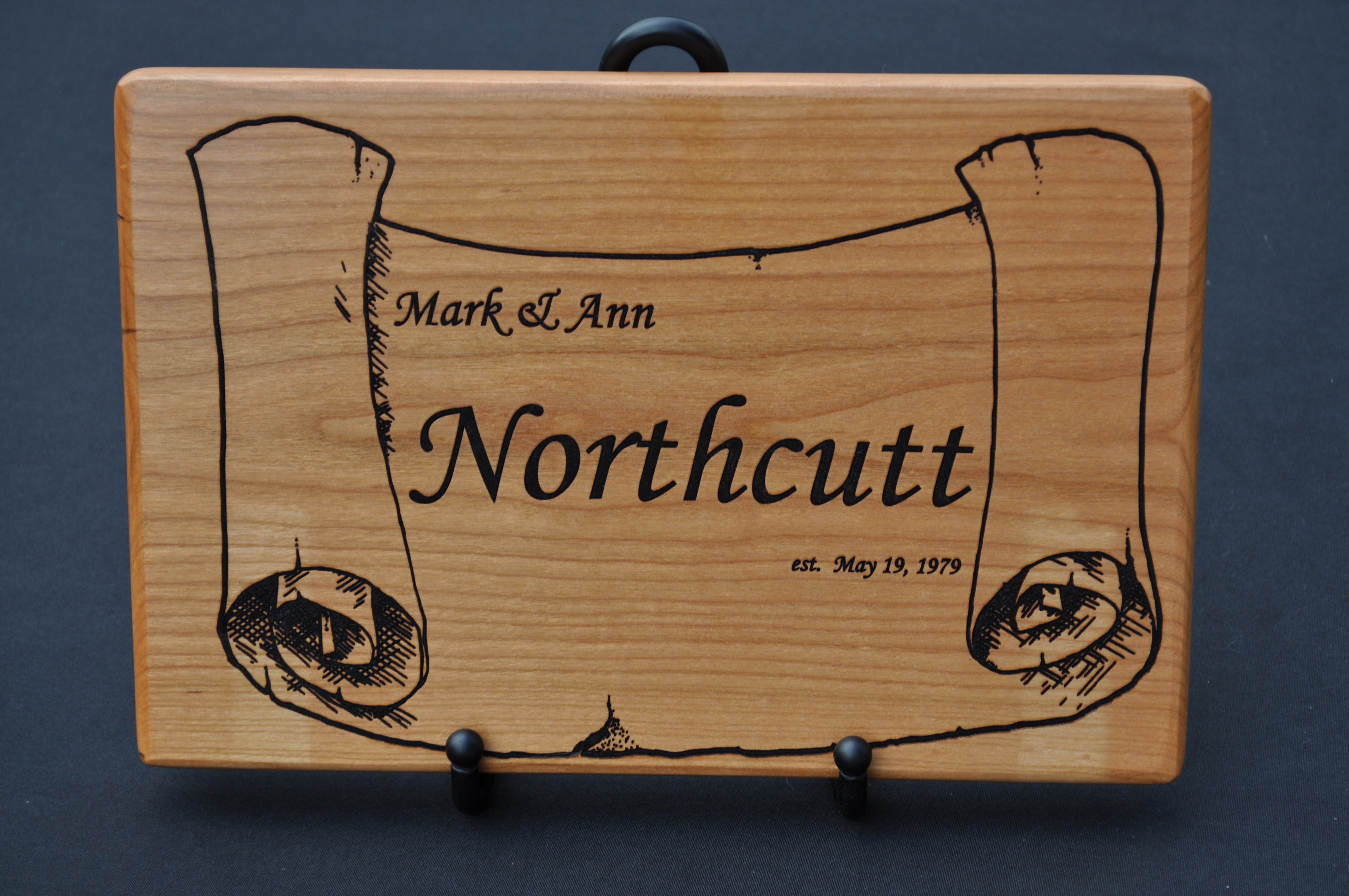 05bdb6a4e96 Personalized Laser-engraved Cutting Board – MarkAnn Woodcrafts
